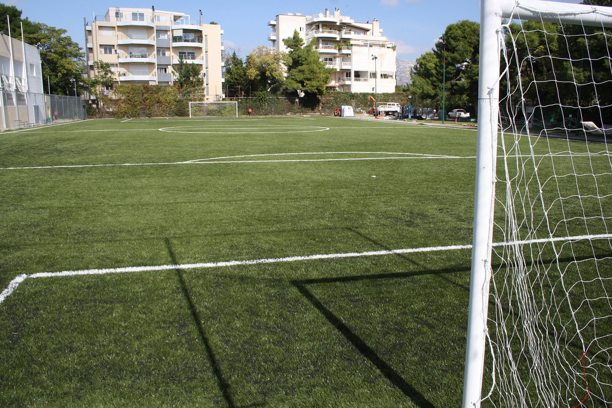 Outdoor soccer field