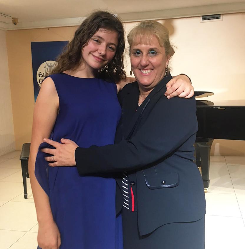 Gabriele and her professor Agathe Leimoni